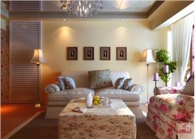 紫色×淡黃色,復式樓上樓下別樣風景,客廳吊頂鏡面裝飾添彩