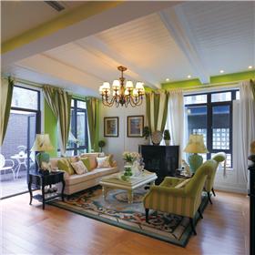 小小樓梯隔空間,289㎡別墅也要綠色小清新