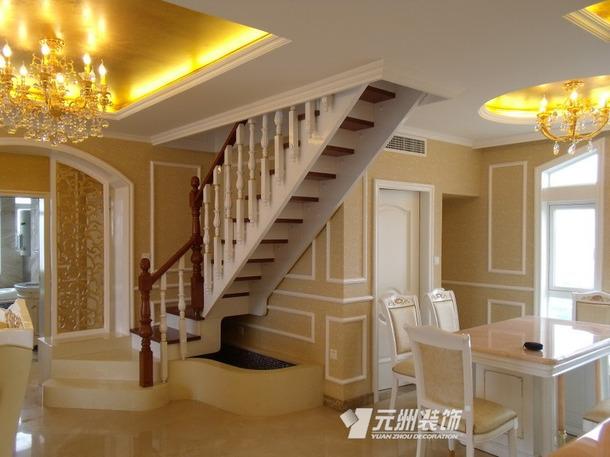 二楼欧式风格别墅小餐厅吊顶装修图,欧式风格楼梯图片