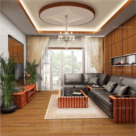来自咖色的温暖呈现,5.8万打造一个温馨175平的新中式四居!