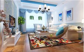 【維多利亞】96平米二居室 大丈夫和嬌妻的浪漫地中海設計