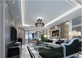20萬打造私人新古典豪華住宅,鏤空的雕刻與背景墻還有地板都加大了視野的范圍,顯的美觀大氣