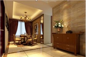 大气的家具与唯美的家居摆件,配合完成大气低奢华的居住空间