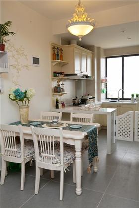 開放廚房溫柔居,歐非田園白色家,屬于每個女孩的田園夢