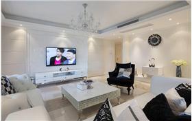 【京铁家园】170平白色新古典风格三居室装修实景图