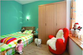 【京都佳苑】102平米現代簡約 粉白為基調唯美的色彩婚房。