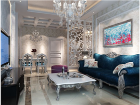 新古典大裝多彩家,小夫妻7.6萬半包豪華三居