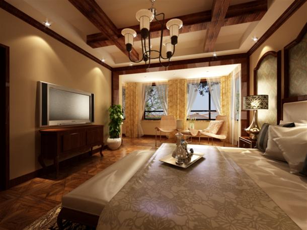 美式风格卧室吊顶装修效果图,美式风格电视柜图片