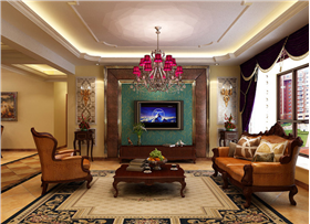 名门华都158平米三居室 融入异国风情展现美式的大气自然情怀