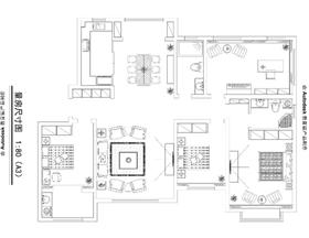 豫林嘉園180平四居室展示現代快速節奏生活的特點,簡單簡潔不失條理