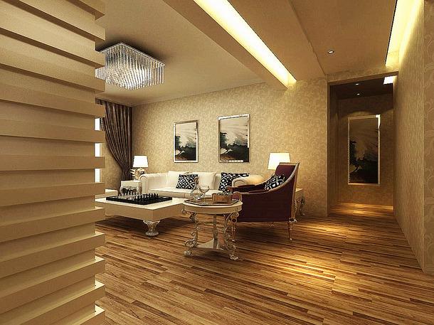 146m2简约欧式风格客厅沙发背景墙装修效果图-简约欧式风格沙发图片