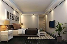 活躍著青春感的新中式二居室裝修,木質格柵與鏡面的巧妙結合~時尚與古典的完美融合