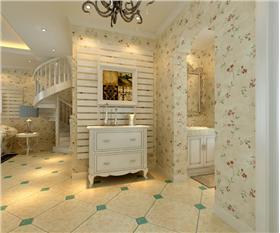 帶閣樓的兩室小洋樓,120平田園風格躍層裝修案例賞析