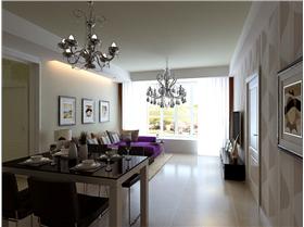 【雍和慢城】90平二居,現代簡約風讓整個家清新素雅,舒適簡單。