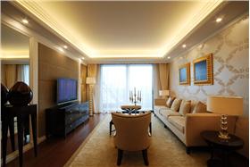 7.2W半包打造93平米三居室低調奢華簡約空間