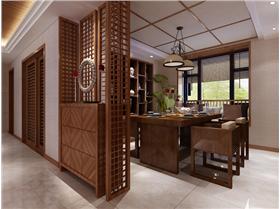 木柵餐廳隔斷 打造幽靜就餐環境 歸于淳樸的新中式居家設計~~