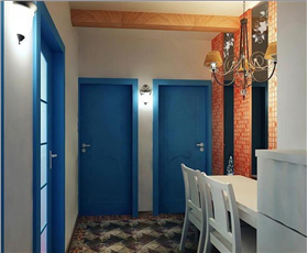 6.9萬揭開地中海神秘的面紗 70平二居室裝修效果圖