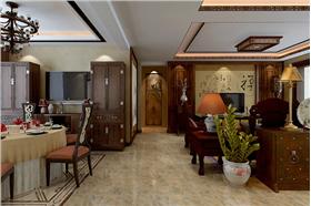 【国赫红珊湾】中式字画与客厅的完美结合,一份与众不同的美