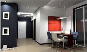 都市春天 89平米二居室 簡約風格黑白搭配基調締造優越品位。