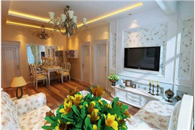 歐式田園風格-90.2平米三居室裝修案例
