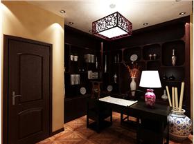 340㎡紅庭別墅新中式風格裝修效果!傳統文化滲透!