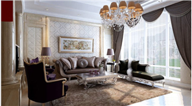 """""""下沉式客廳+時尚休閑地下室"""",詮釋新古典復式居家空間的華麗優雅"""