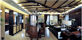 东南亚异国风情,木质与皮质的完美结合,家居更显稳重大气~