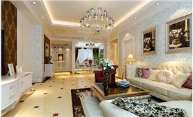 联排别墅300平6室中欧混搭 结合沉稳与奢华共创和谐之美。