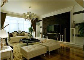 隔墻做酒柜,空間優化使用,9W新古典的時尚風范,三居生活從這里開始