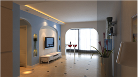 明亮的色彩搭配簡單的家具搭,呈現居家生活的主要元素