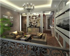 雕花圍欄&白色隔斷···Miss吳精心打造時尚新古典復式美宅