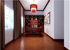 中式韵味沉稳气息 彰显出主人的独特个性和品位。