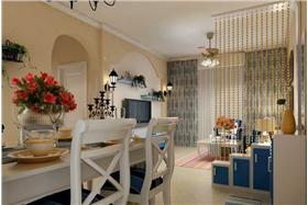 純情地中海風格,浪漫異域風情打造81m2一居室