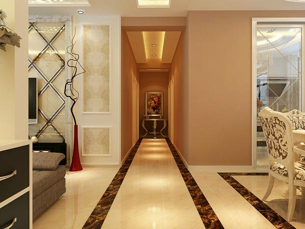 简欧风格走廊吊顶装修效果图-简欧风格灯具图片