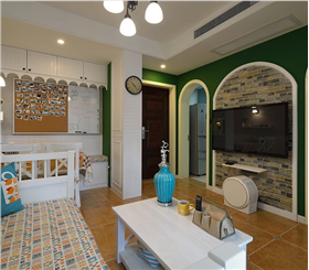 54平方精致小公寓,活色生香的地中海風裝修-實創裝飾杭州公司
