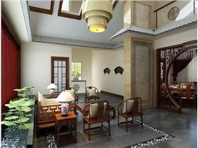 莲山首府-四居室-260平米-中式風格装修设计