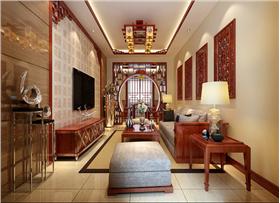【花园东路】书香韵味十足的居室,8.1万打造105平中式风二居