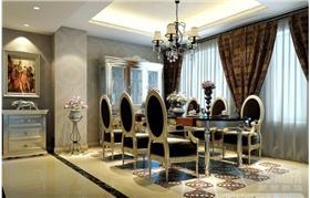 200平米大户型 黑白新古典风格装修设计 低调中显露奢华生活