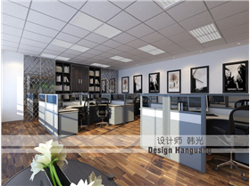 時尚的商務現代化,卓越大廈200㎡辦公室設計欣賞