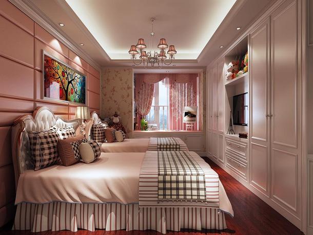 欧式风格卧室电视背景墙装修效果图,欧式风格衣柜图片