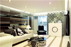 金沙御苑109㎡套三別樣的混搭設計,展現出了家居的百變風情