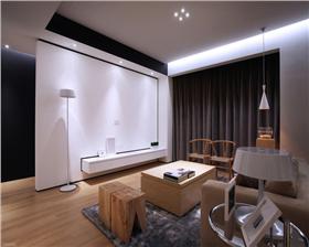 任府公館110平米兩居室 簡約時尚潔凈舒適的家居生活。