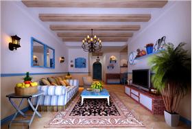 美式田園風格,清新自然,藍色調的家