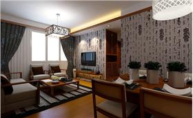 書法的藝術融入家裝中,渾然天成的東方大氣之感,在中式公寓房里碰撞升華