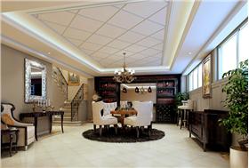 360㎡簡歐豪華別墅裝修,用心譜寫新時尚奢華裝修。