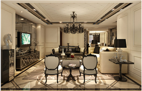 黑白配新古典奢华空间 独具一格的美感与质感享受!!!