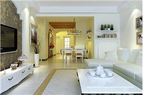 ?歐式田園三居室時尚之風 簡潔家居白色主調貼近自然