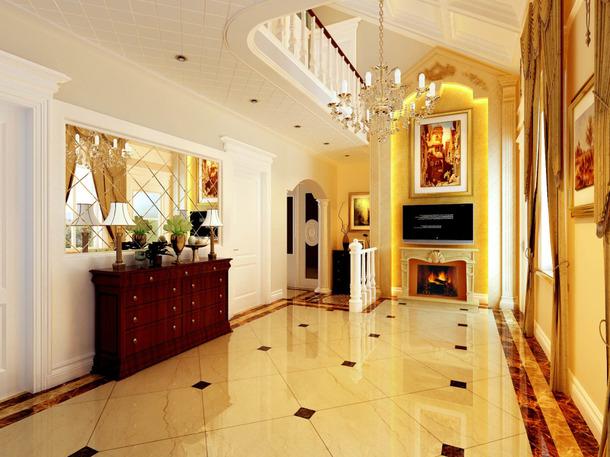 欧式大宅也有小浪漫?水晶珠帘让玻璃卫生间意境更美更