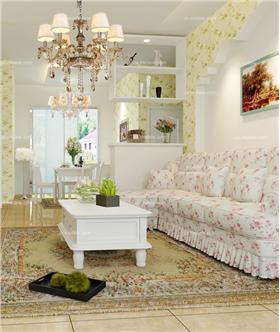 打造一個97平韓式田園二居,讓清新柔美包圍整個家!