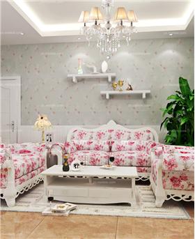 恰似水蓮花的清幽,打造90㎡韓式田園二居,給你一個溫馨的居室環境!